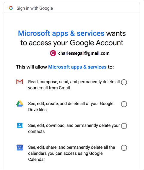 Ζητήστε άδεια από την Google