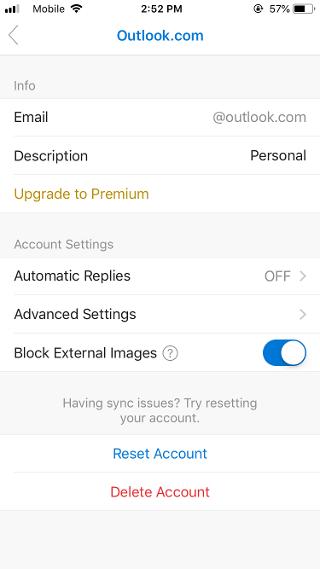 """""""Αποκλεισμός εξωτερικών εικόνων"""" στο Outlook Mobile"""