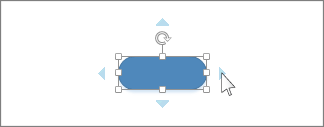 Κλικ του δρομέα στο μπλε βέλος αυτόματης σύνδεσης