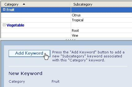 Προσθήκη μιας δευτερεύουσας λέξης-κλειδιού σε μια λέξη-κλειδί