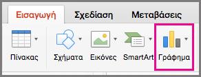 Δημιουργία γραφήματος στο Office για Mac