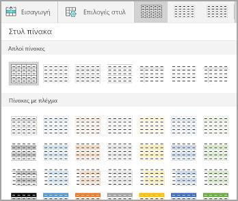 Συλλογή προτύπων πίνακα Windows Mobile