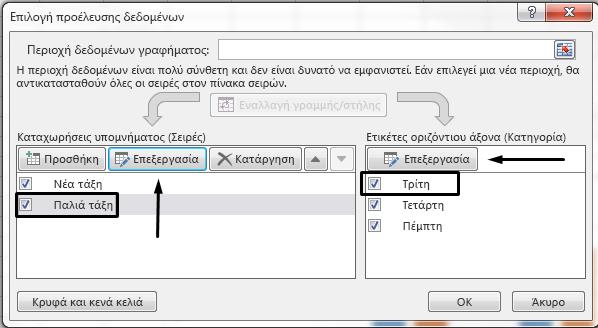 """Μπορείτε να επεξεργαστείτε το όνομα του υπομνήματος στο παράθυρο διαλόγου """"Επιλογή αρχείου προέλευσης δεδομένων""""."""