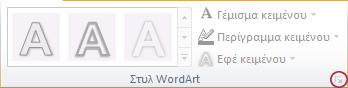 Εικόνα της κορδέλας του PowerPoint