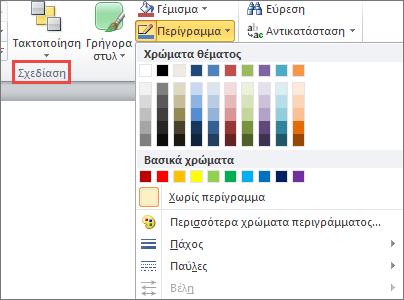 Μενού πλαισίου κειμένου περιγράμματος σχήματος στο PowerPoint 2010
