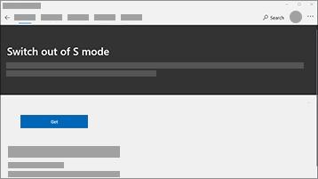 Στιγμιότυπο οθόνης με απενεργοποίηση του S mode