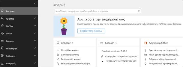 Κέντρο διαχείρισης Office 365