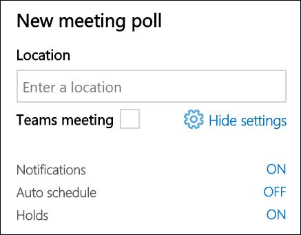 Απενεργοποιήστε την επιλογή Αυτόματος προγραμματισμός εάν χρησιμοποιείτε μια υπηρεσία παροχής σύσκεψης άλλου κατασκευαστή.