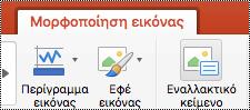 """Κουμπί """"Εναλλακτικό κείμενο"""" στην κορδέλα του PowerPoint για Mac"""