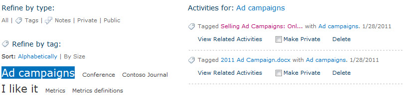 Select a tag to see the content you have assigned it to.