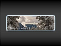 Custom animation effects: picture pan in window with text fade-in and fade-out