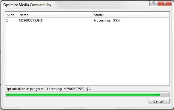 Optimizing media files for playback