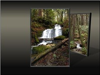 Custom animation effects: picture triptych, slide 1, left picture to front center
