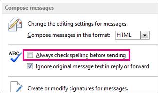 Always check spelling before sending