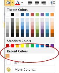 recent colors option