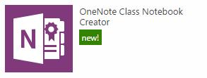 the class notebook creator app icon