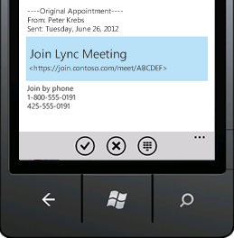 Join a Lync Meeting from your mobile device