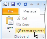 Format Painter command on the ribbon