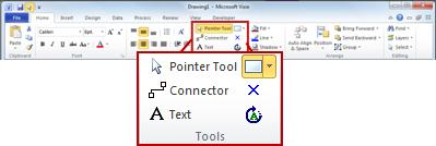 The Tools group on the Home tab