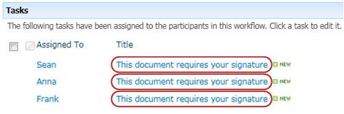 Identifying text in task title on Workflow Status page