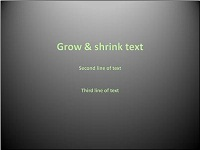 Custom animation effects: grow and shrink text