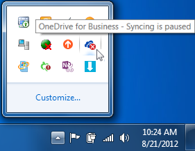 SharePoint library folders with syncing paused