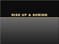 Custom animation effects: rise up and shrink