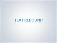 Custom animation effects: text rebound