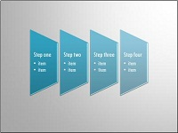SmartArt custom animation effects: trapezoid list