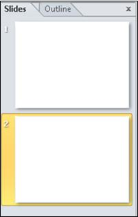 The pane containing the Outline and Slide tabs