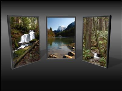 Picture triptych
