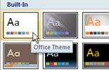 Click 'Office Theme'