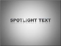 Custom animation effects: spotlight text
