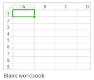 New blank workbook