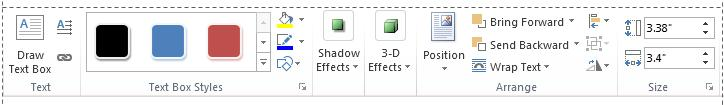 The Format contenxtual tab