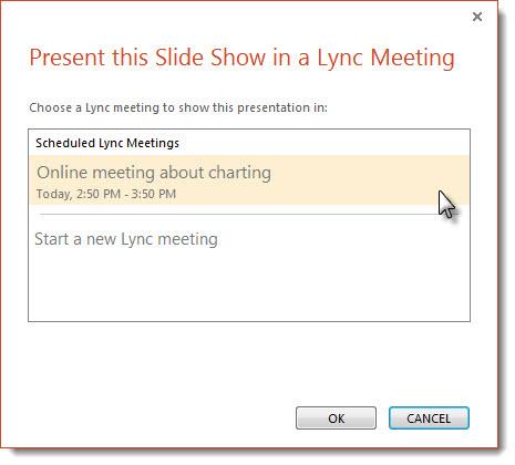 Start a Lync meeting