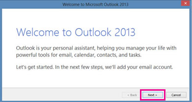 Welcome to Outlook 2013 page