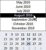 Date Navigator with month selector