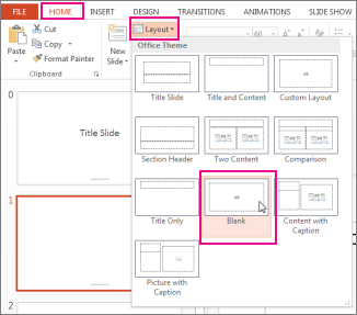 Reapply a layout that you've changed in Slide Master View
