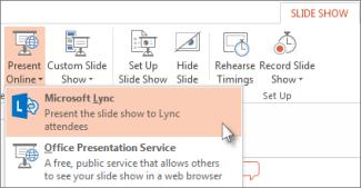 Present Online using Lync