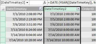 DateTimeKey column