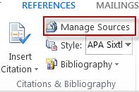 Manage the sources for your reference citations.