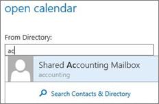 Outlook Web App Open calendar dialog box