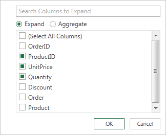 Select column names