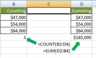 Counting versus summing