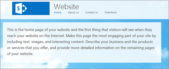Example of Page Content repositioned