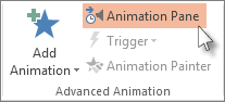 Open the Animation Pane