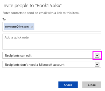 Option for changing workbook to view-only