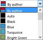 Track Changes, Advanced Options - Common color dropdown