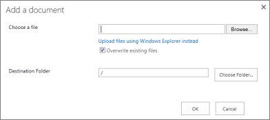 Upload with Windows Explorer